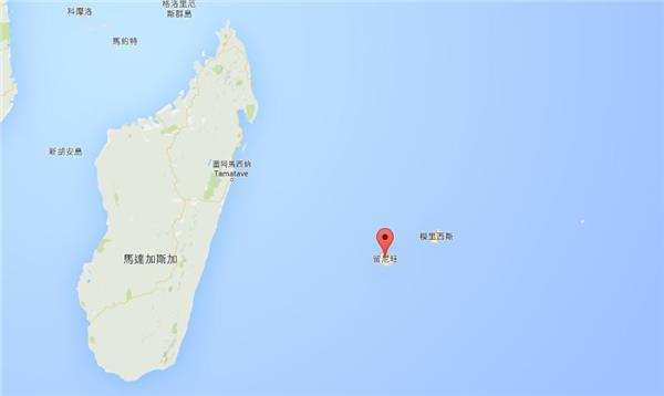 留尼旺岛地理位置图.(图/翻摄自google map)