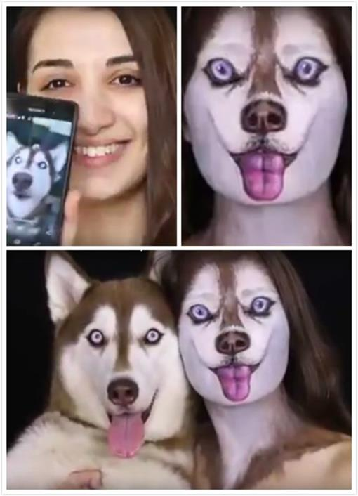 化妆,哈士奇/youtube