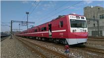紅色京急電鐵在台灣 台鐵阿福號變身(中央社)