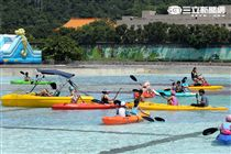 「台北河岸童樂會」活動將於8月20日起至28日於大佳河濱公園希望噴泉周邊舉辦,老少咸宜。(記者邱榮吉/攝影)