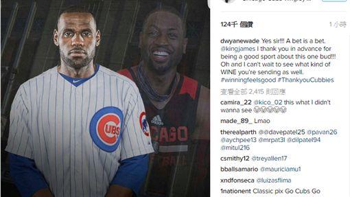 LeBron James與Dwyane Wade(圖/翻攝自IG)