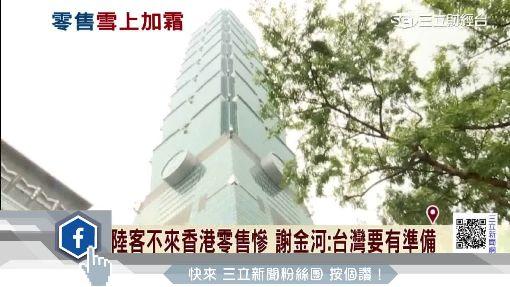 陸客不來香港零售慘 謝金河:台灣要有準備