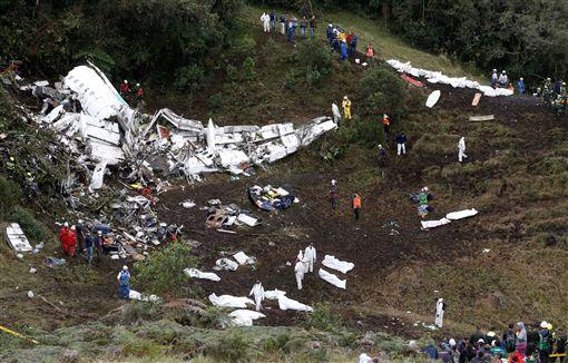 哥倫比亞,墜機,巴西,足球隊.Chapecoense。圖/路透社
