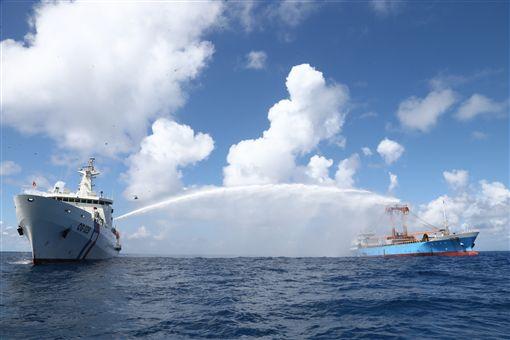 南援一號操演,太平島/行政院提供