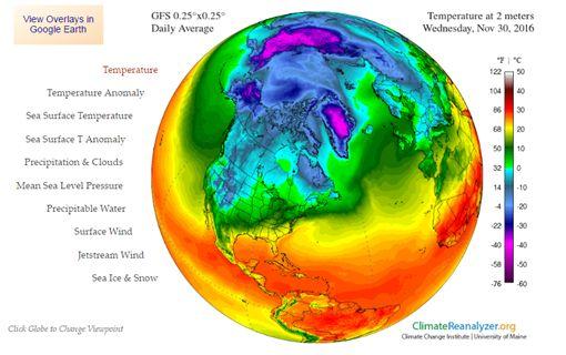 北極圈、全球暖化(圖/翻攝自cci-reanalyzer)
