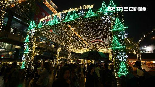 台北101法國史特拉斯堡耶誕市集。(圖/記者簡佑庭攝)