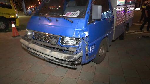 疑搶快違規左轉 貨車轎車撞3人傷