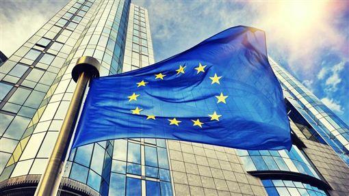 歐盟,歐洲,歐洲人,國旗,旗幟(圖/shutterstock/達志影像)16:9