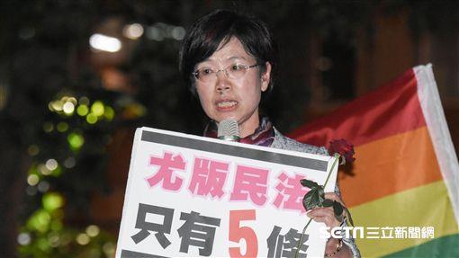 尤美女,同志,同性戀,公聽會,婚姻平權,民法,恐同 圖/記者林敬旻攝