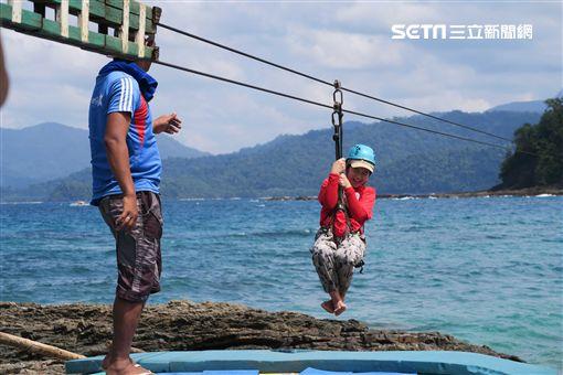 菲律賓巴拉望海上溜索。(圖/記者簡佑庭攝) ID-746562