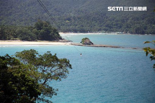 菲律賓巴拉望海上溜索。(圖/記者簡佑庭攝) ID-746566