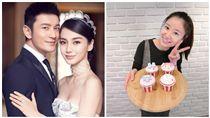 Angelababy,黃曉明,林心如,合成圖/微博、臉書