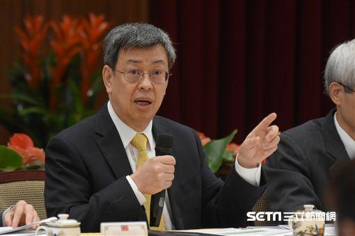 副總統陳建仁召開國民年金改革國是會議前記者會 圖/記者林敬旻攝