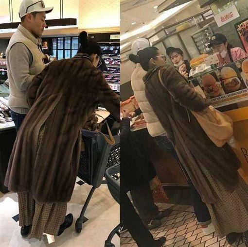 全智賢與老公一起逛超市。(圖/翻攝自only_giannajun Instagram)