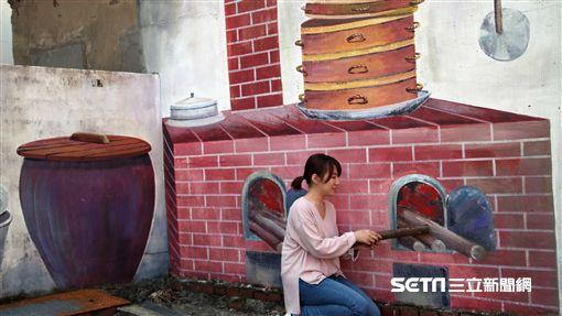 桃園機場捷運,機捷小旅行,蘆竹坑口彩繪村。(圖/記者簡佑庭攝)