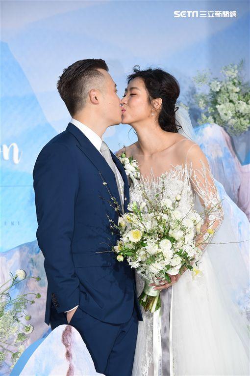 藝人林可彤與男友Tompson舉行婚禮完成終身大事