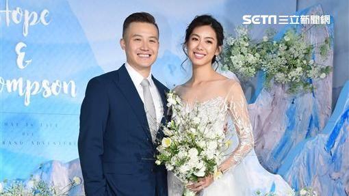 藝人林可彤與男友Tompson舉行婚禮完成終身大事 (鄭先生)