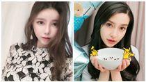 Angelababy,南韓爆乳網紅 合成圖/翻攝自微博、IG