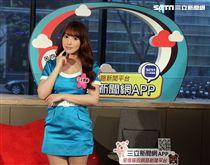 日本女優三上悠亞接受三立新聞網獨家專訪。(記者邱榮吉/攝影)