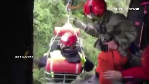 二子山搜救任務 消防員重感冒遭吊掛下山