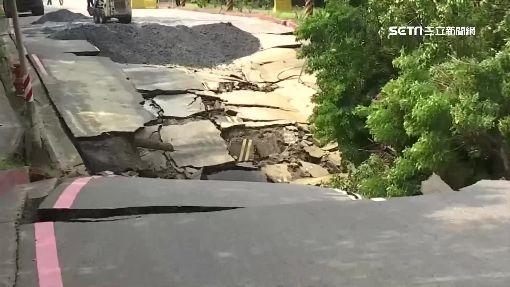 又塌! 中林路陷60公分 疑挖破污水管