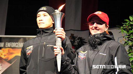 內政部警政署專員林軍廷代表台灣,前往奧地利參加傳遞火炬之盛會 圖/警政署提供