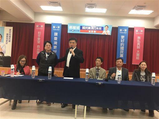 國民黨副主席郝龍斌,巡迴政見座談會,士林區。(郝龍斌辦公室提供)