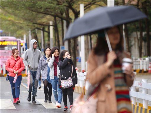 多雲,晴朗,天氣,乾冷,氣象,回溫圖/中央社