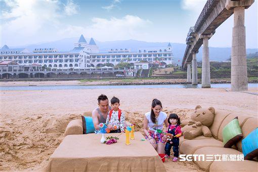 兒童節,連假,沙雕,住房專案,福容大飯店。(圖/福容大飯店提供)