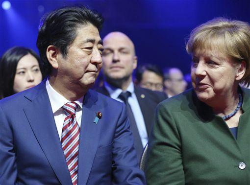 矛頭指向美國 日德領袖力挺自由貿易_美聯社/達志影像