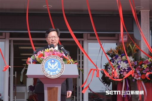 內政部警政署反恐訓練中心揭牌典禮,桃園市長鄭文燦 圖/記者林敬旻攝