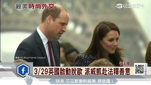 黛妃逝世20年後 威廉攜凱特首訪巴黎
