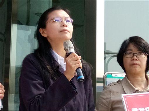 李明哲妻子,李凈瑜(圖/中央社)