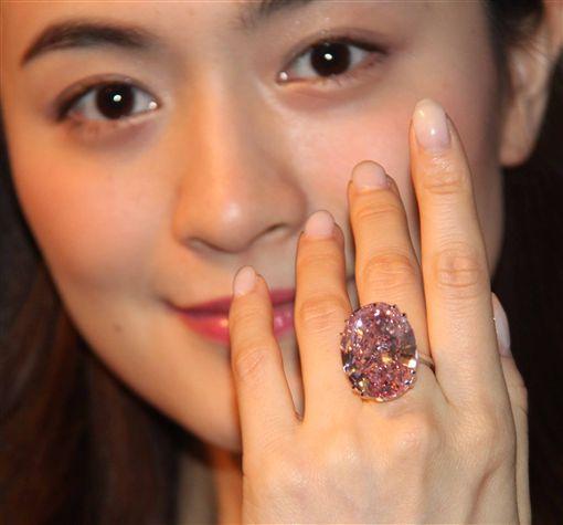 蘇富比,拍賣,粉鑽,粉紅之星(圖/中央社) ID-858736