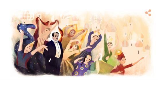 俄派芭蕾創始人Sergei Diaghilev。(圖/翻攝自Google Doodle) ID-860377.jpg