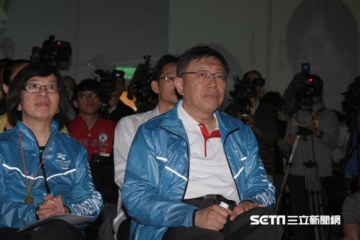 2017搖滾世大運記者會,柯文哲 圖/記者林敬旻攝