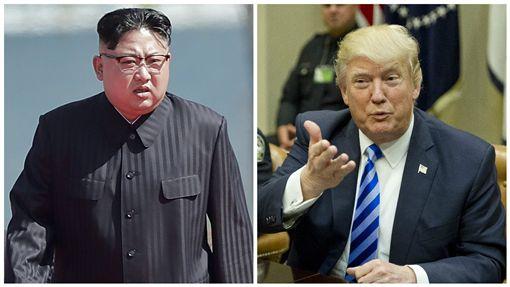 金正恩,川普,軍事,戰爭,北韓,美國圖/美聯社/達志影像