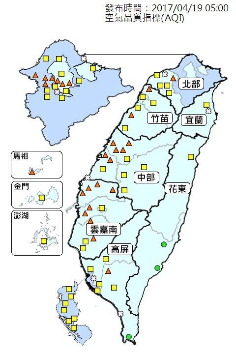 氣象,天氣,陣雨,溫度,強陣風,颱風,PM2.5,空氣品質,鋒面(潘大綱臉書)