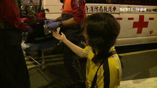 反年改夜宿立院傳意外 男子咆哮女子遭拒馬割傷