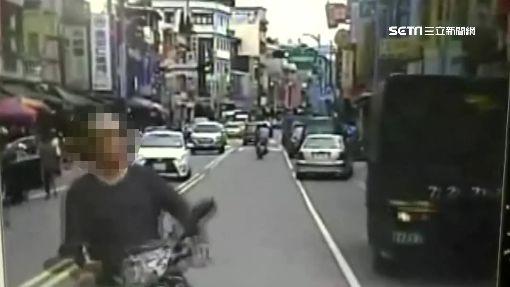 騎士逆向擋客運 對準司機「太陽穴」狂毆