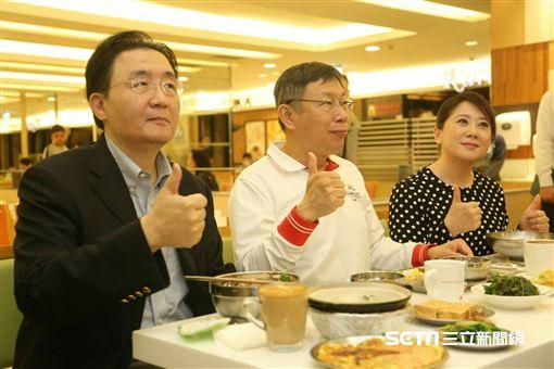 台北市長柯文哲出席禁一次性餐具記者會 北市府提供