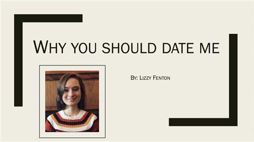 簡報檔,PPT,交往,追愛,告白,推特,微軟,Lizzy Fenton,創意(圖/翻攝自推特)