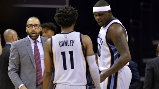 David Fizdale,Mike Conley,Zach Randolph(ap)