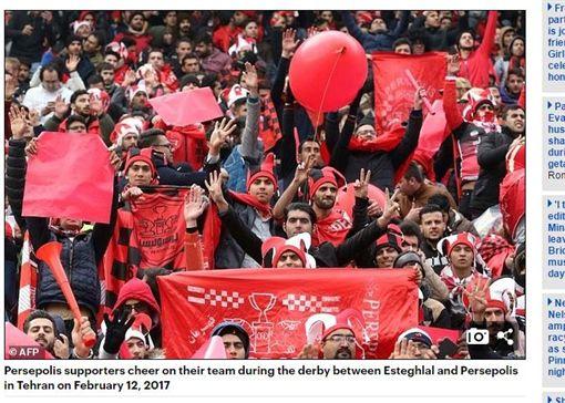 伊朗女扮男裝看足球賽_dailymail