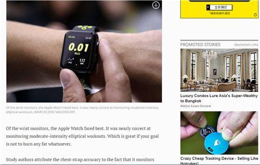 Fitbit Blaze,Apple Watch,智慧手錶,智能手錶,心律,心跳,血壓,觀測,運動 圖/翻攝自紐約每日新聞