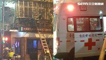 台北市民生東路五段2樓公寓傳出火警(圖/記者劉世澤攝影)