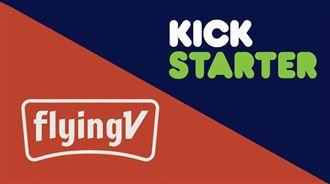 FlyingV、Kickstarter,群眾募資平台(合成圖/翻攝自FlyingV、Kickstarter官網)