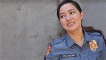 珍被評為「菲國最正女警」。(圖/翻攝自Jane Lee臉書)
