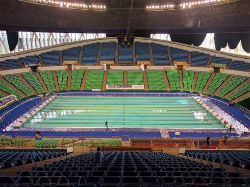 世大運活動式游泳池正式啟用。(圖/世大運提供)