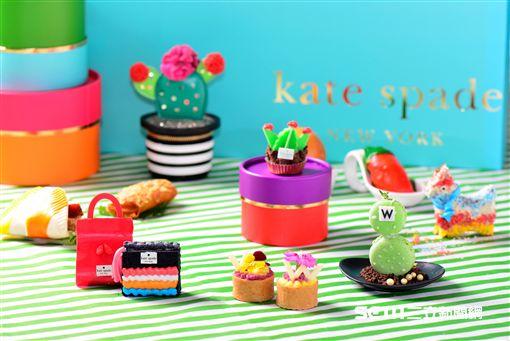 Kate Spade品牌聯名下午茶。(圖/台北W飯店提供)